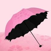 Новинка!!!Женский зонт с проявляющимся рисунком на 8 спиц,волнистые края. Очень красивый и удобный.