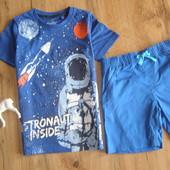 Lupilu комплект футболка+ шорты мальчику 100% хлопок 4-6 лет рост 110-116 Германия