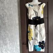 Фирменное красивое коттоновое платье в отличном состоянии р.14
