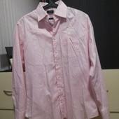 Tommy Hilfiger. Мужская рубашка оригинал. Нежно-розовая 40/M