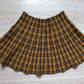 Фирменная красивая трикотажная юбка-клеш в отличном состоянии р.16-18 вискоза+полиэстер+нейлон