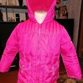 Курточка Next зимняя на флисе 2-3года