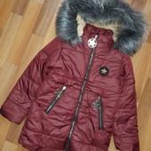 Зимняя куртка в отличном состоянии! 6-7л