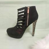 Туфли эпатажные Miss Selfridge,искусственная замша 26см.