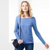 Нежная блуза с тканой вставкой Tchibo(Германия), размер евро 44/46 (наш 50/52)