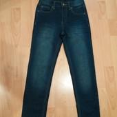 Лот 24!много лотов,собирайте)джинсики плотненькие на рост 134-140