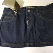 Стильная джинсовая юбка Pull & bear, размер S, евро 38