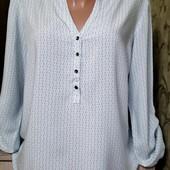 Собираем лоты!! Фирменная, лёгкая блуза, размер 36/38,100 %вискоза