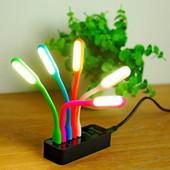 Гибкая портативная USB-светодиодная лампа Цвет салатовый (в лоте - одна)
