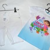 2 речі в лоті. Шорти H&M 104см, 3-4р.+футболка Nickelodeon 3T