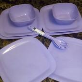 Набор 10 предметов качественной пластиковой посуды Германия