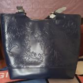 Кожаная сумка женская Zara