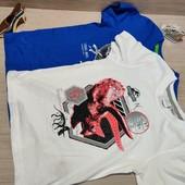 Германия!!! Лот из 2 классных коттоновых футболок для мальчика! 110/116!