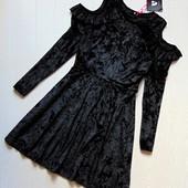 Шикарна нарядна велюрова сукня для дівчинки V by very, на бірці 14 років - р. S, див. заміри