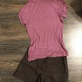 Шорти нові лляні та футболка розмір С