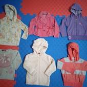 Кофты, ветровка, пиджак девочке 2-2,5 г., 92-98р. состояние отличное