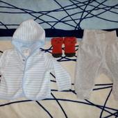 Пакет фирменных вещей ( 6 ед.) на малыша 2-4м(56-62). В идеале!