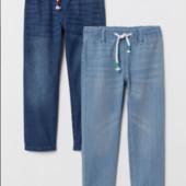 ♥-джинсовые джоггеры Н&М,тонкие.р.5-6.в лоте темные-♥