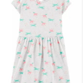 ♥-платье Carters с единорожками р.7,-!♥