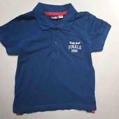 lupilu.классная хлопковая футболка поло 98/104замеры