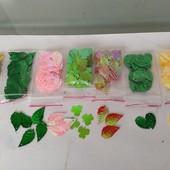 Набор листьев 400шт, 6 цветов