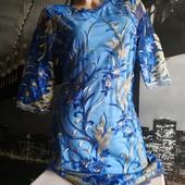 Шикарное красивое платье электрик размер Л! Смотрите замеры!! Последние! Больше не будет!