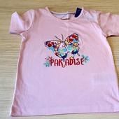 Рожева футболка на юну принцесу, розм 86/92 , бренд lupilu, германія