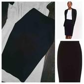 Мега стильная чёрная юбка миди M&S pp 14