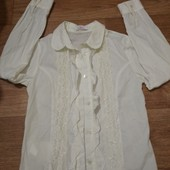 Блуза,рубашка нарядная.Рост 128-140.