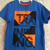Классная футболка для мальчика на рост 92см