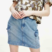Скидка УП-10%.Franco Benussi. Летняя джинсовая юбка в стиле карго с карманами. размер 42,44