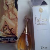 Christian Dior J'adore absolu 100 ml eu de parfum. Новый, в слюде!!! штрих, батч код!