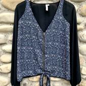 Красивая блуза стильная на 52-54р. Состояние идеальное.