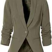 Жіночий піджак хакі Made in Italy