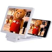 Последние,белый!!!Увеличитель подставка 3D для смартфона!