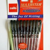 Набор ручек MaxRiter 10+1. Ручка 4км. Цвет чернил синий. Лоты комбинирую.