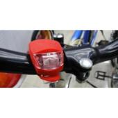 Фонарь велосипедные красного цвета.Крепко держится.1шт.