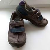Скидка УП-10%.Clarks. Кожаные туфельки на мальчика,размер 6 G,стелька 14,5 см
