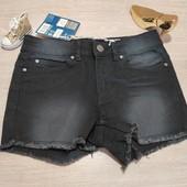 Германия!!! Суперовые джинсовые шортики для девочки! 128 рост!