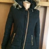 куртка, р. L. демисезон, мех натуральный. BaD. состояние отличное
