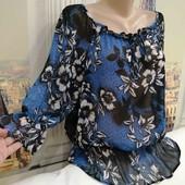 Лёгкая воздушная блуза, David Emanuel, размер М - L.