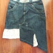 Гламурна джинсова спідничка для справжньої модниці, розмір 40.