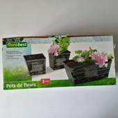 Lidl, Німеччина❤ 3 горщики для квітів Florabest, прикраса вашого саду