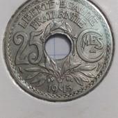 Монета Франция 25 сантимов 1915 год !!!