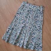 Летняя юбка 55 % лен в очень хорошем состоянии