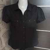 Фирменная красивая блуза в мелкий горошек р.12-14 отличное состояние, коттон 97%