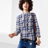 стильная женская рубашка в клетку от tcm tchibo.
