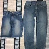 Джинсы,шорты H&M,tex,5-7 л