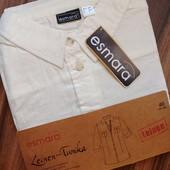 летняя рубашка туник Esmara р.40 евро (55% лен, 45% котон)