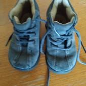Детские замшевые ботиночки, длина стельки-13 см